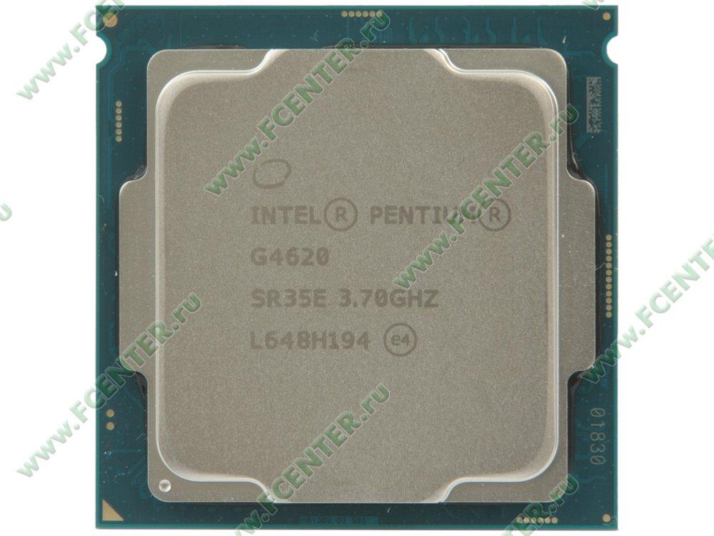 """Процессор Intel """"Pentium G4620"""" Socket1151. Вид сверху."""