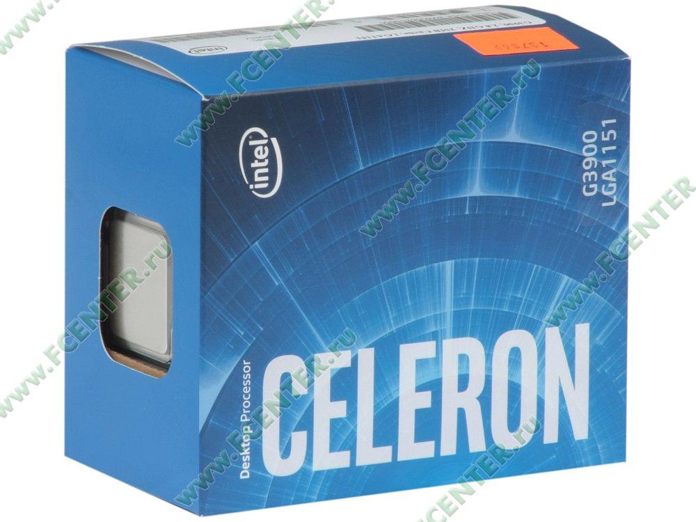 """Процессор Intel """"Celeron G3900"""" Socket1151. Коробка."""