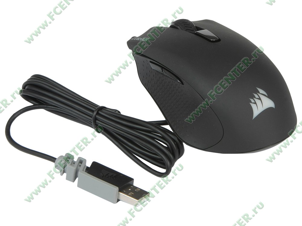"""Оптическая мышь Corsair """"Harpoon RGB"""" (USB2.0). Вид спереди."""