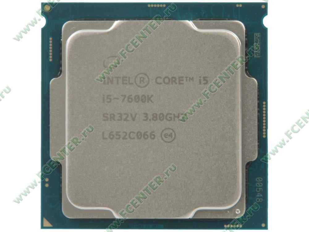 "Процессор Intel ""Core i5-7600K"" Socket1151. Вид сверху."