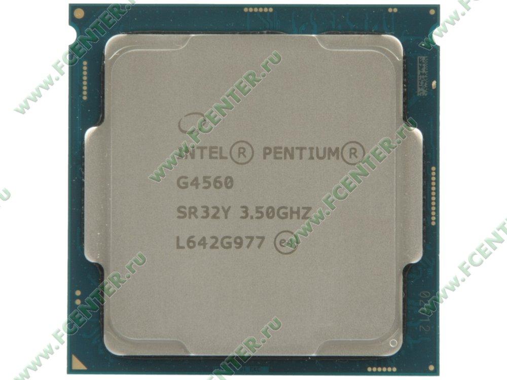 """Процессор Intel """"Pentium G4560"""" Socket1151. Вид сверху."""