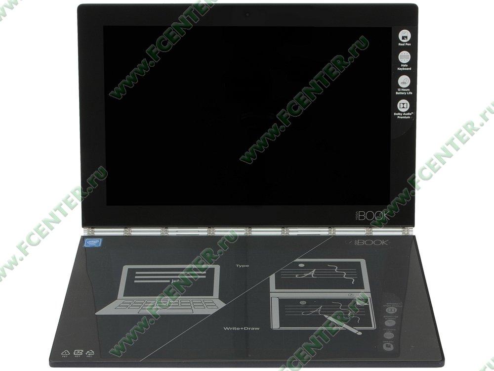 """Планшет Lenovo """"Yoga Book YB1-X91L"""". Вид спереди 1."""
