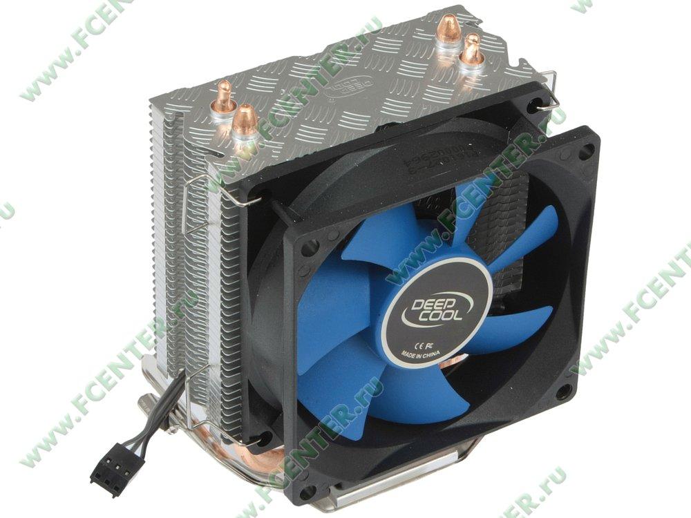 """Кулер для процессора Deepcool """"Ice Edge Mini FS v2.0 II DP-MCH2-IEMV"""". Вид спереди 1."""