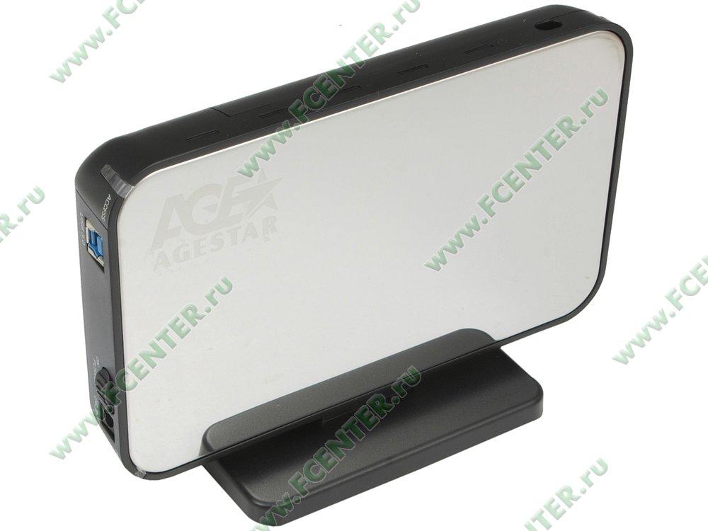 """Контейнер Agestar """"3UB3A8-6G"""" (USB3.0). Вид спереди 1."""