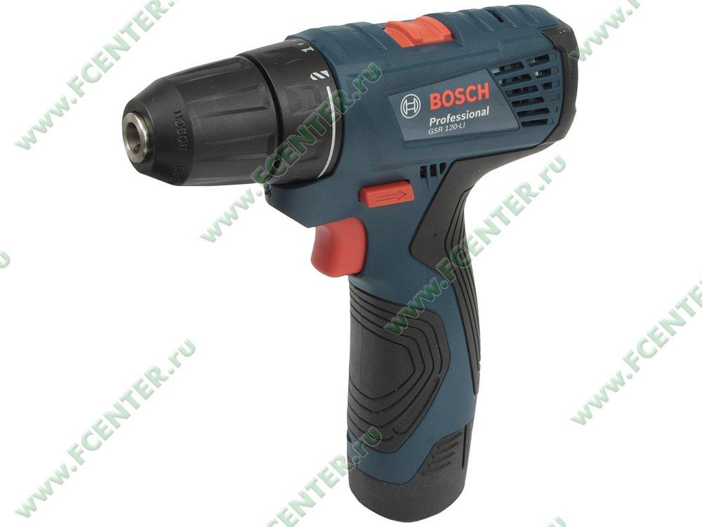 """Дрель-шуруповёрт Bosch """"GSR 120-LI Professional"""". Вид спереди."""
