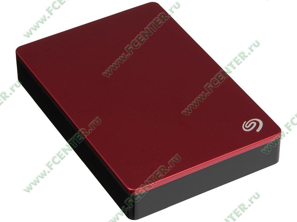 """Внешний жесткий диск 5ТБ Seagate """"Backup Plus STDR5000203"""" (USB3.0). Вид спереди."""