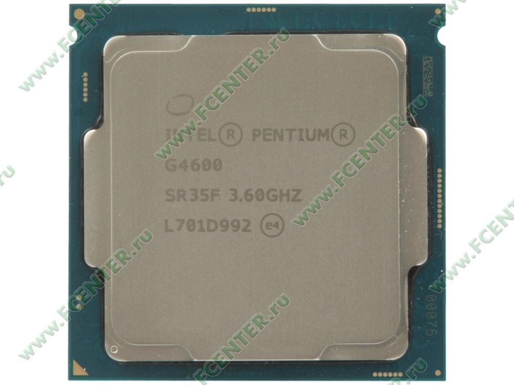 """Процессор Intel """"Pentium G4600"""" Socket1151. Вид сверху."""