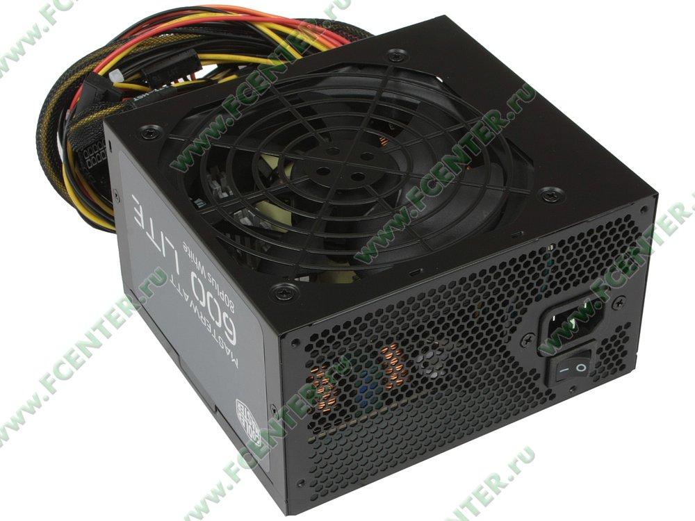 "Блок питания 600Вт Cooler Master ""MasterWatt Lite 600"" ATX12V V2.31. Вид спереди."