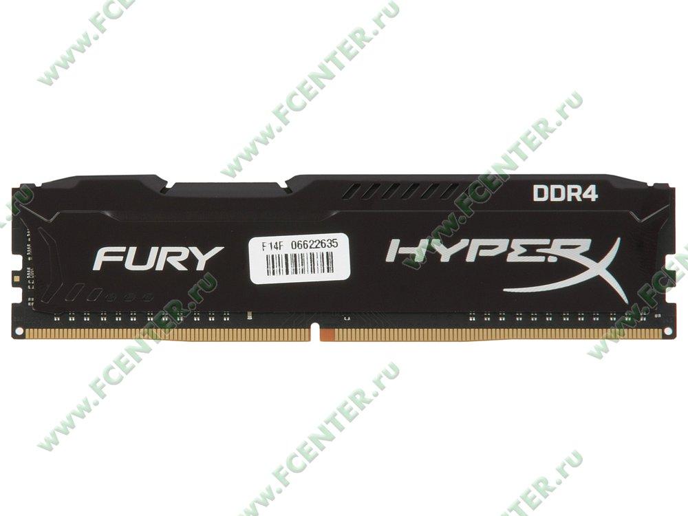 """Модуль оперативной памяти 8ГБ DDR4 Kingston """"HyperX FURY"""" (PC21300, CL16). Вид сверху."""