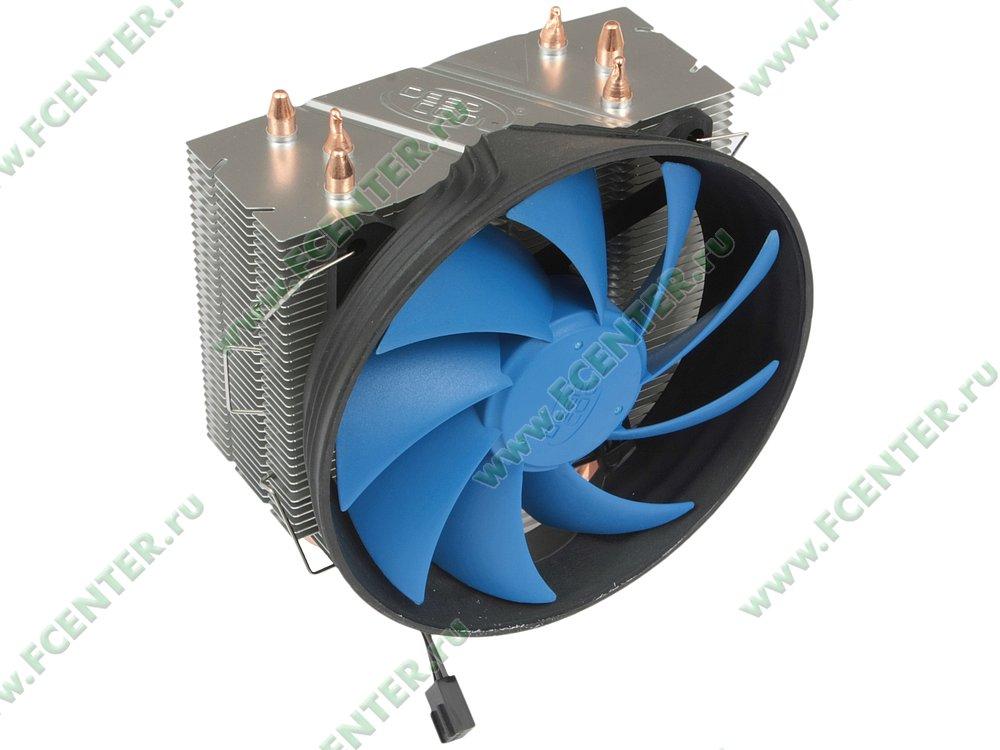 """Кулер для процессора Deepcool """"GAMMAXX 300 DP-MCH3-GMX300"""". Вид спереди 1."""