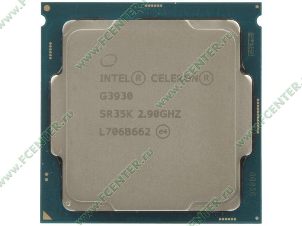 "Процессор Intel ""Celeron G3930"" Socket1151. Вид сверху."