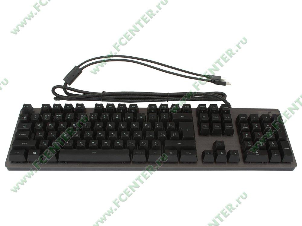 """Клавиатура Logitech """"G413 Carbon"""" (USB2.0). Вид спереди."""