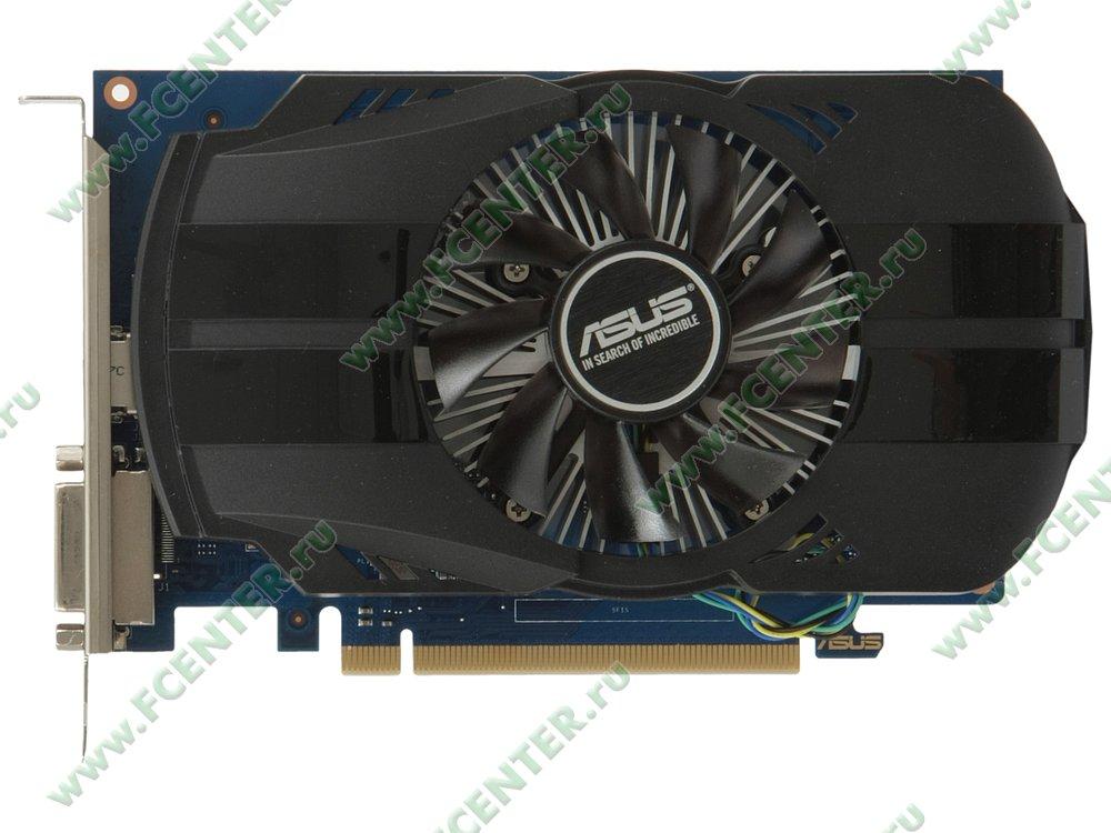 """Видеокарта ASUS """"GeForce GT 1030 2ГБ"""" PH-GT1030-O2G. Вид сверху."""