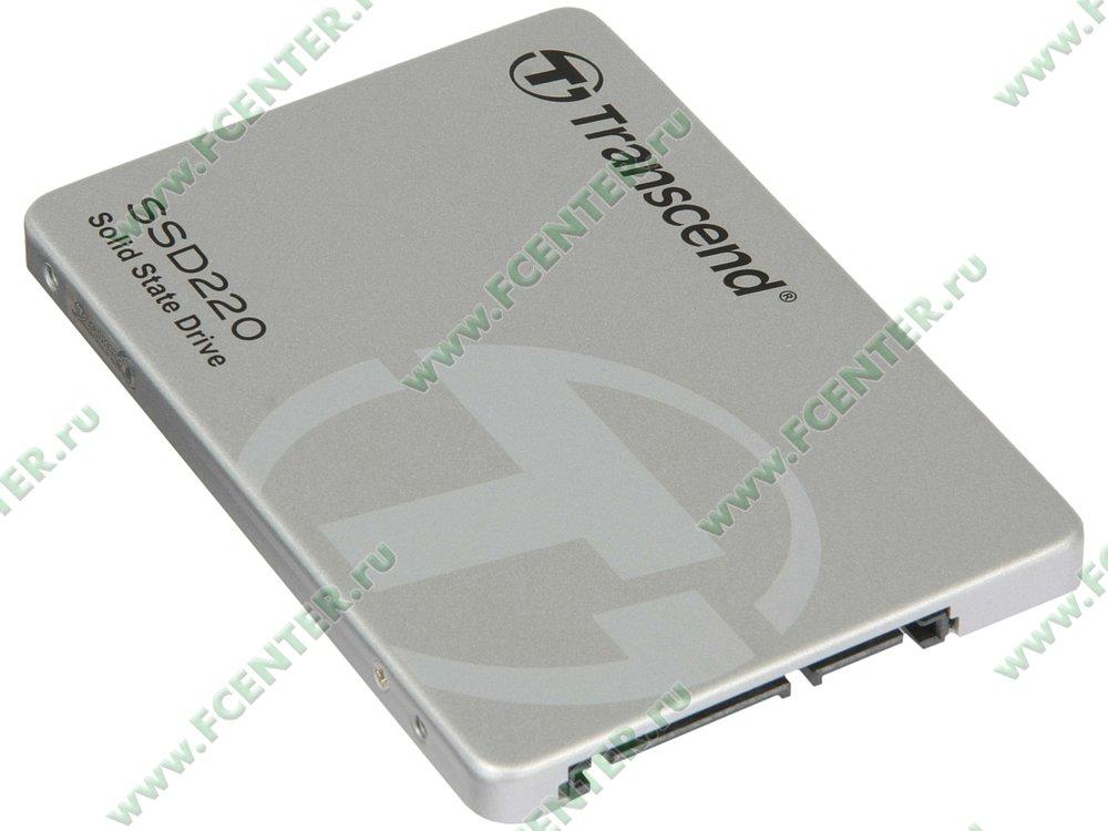 """SSD диск 120ГБ Transcend """"SSD220S"""" (SATA III). Вид спереди."""