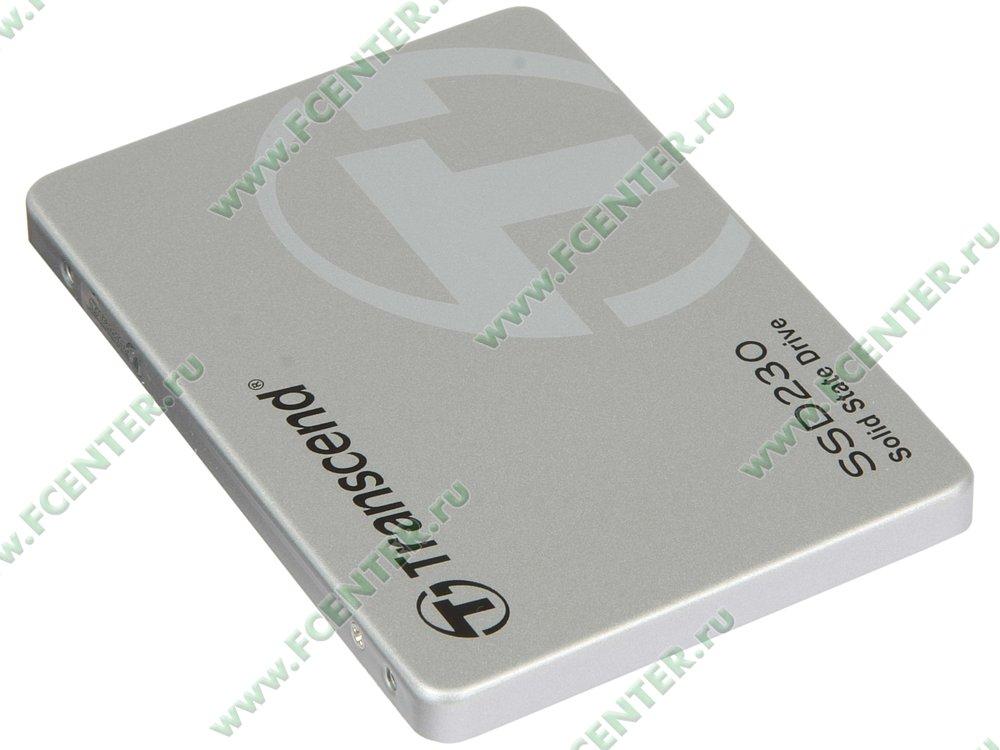 "SSD-диск SSD диск 128ГБ 2.5"" Transcend ""SSD230S"" TS128GSSD230S . Вид спереди."