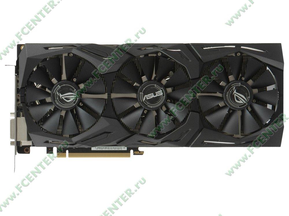 "Видеокарта ASUS ""GeForce GTX 1080 Ti 11ГБ"" ROG-STRIX-GTX1080TI-11G-GAMING. Вид сверху."