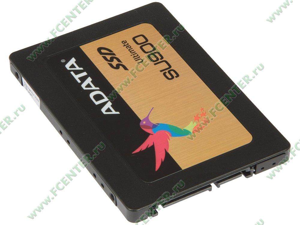 "SSD диск 256ГБ 2.5"" ADATA ""Ultimate SU900"" (SATA III). Вид спереди."