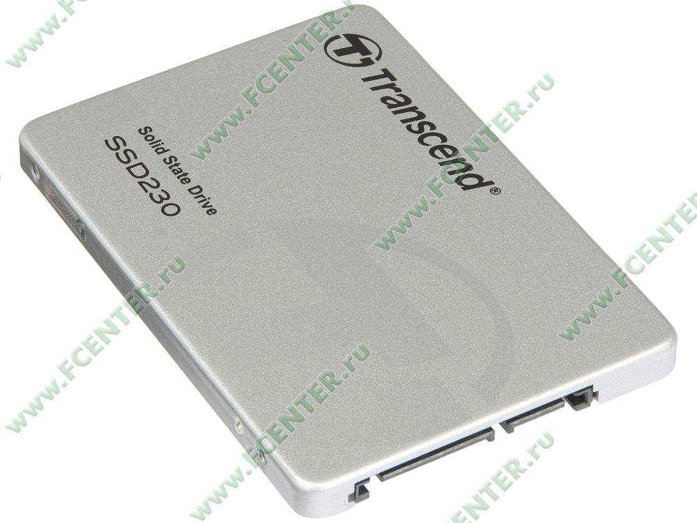 """SSD диск 256ГБ Transcend """"SSD230S"""" (SATA III). Вид спереди."""