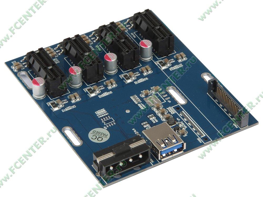 Разветвитель PCI-E x1->4xPCI-E x1 (oem)