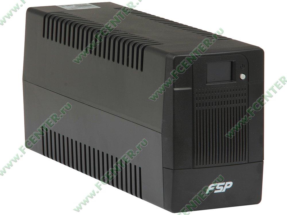 """Источник бесперебойного питания 650ВА FSP """"DPV 650"""" (USB). Вид спереди."""