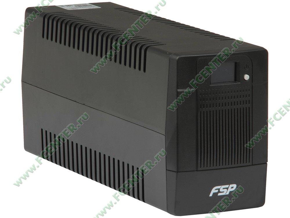 """Источник бесперебойного питания 850ВА FSP """"DPV 850"""" (USB). Вид спереди."""