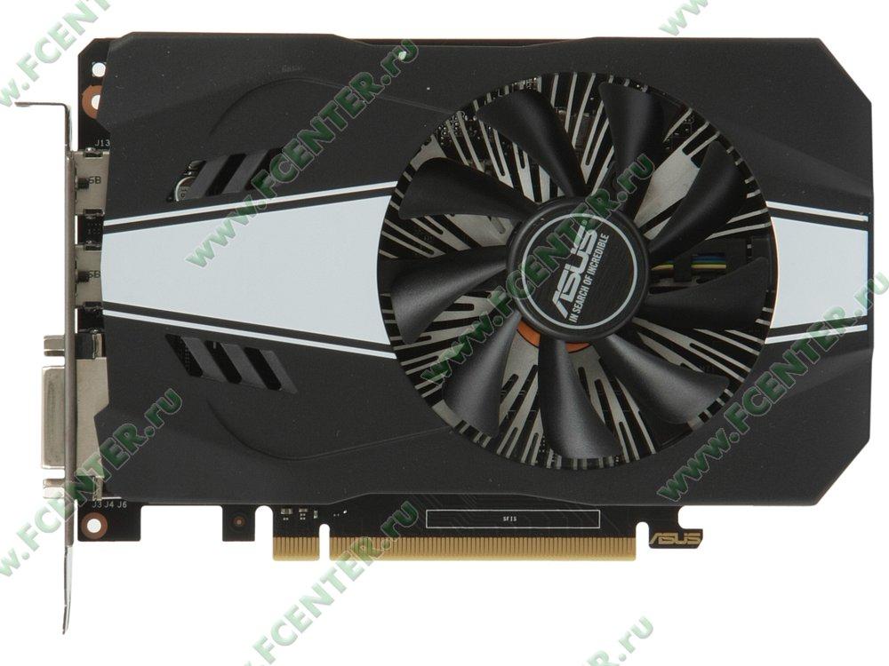 "Видеокарта ASUS ""GeForce GTX 1060 3ГБ"" PH-GTX1060-3G. Вид сверху."