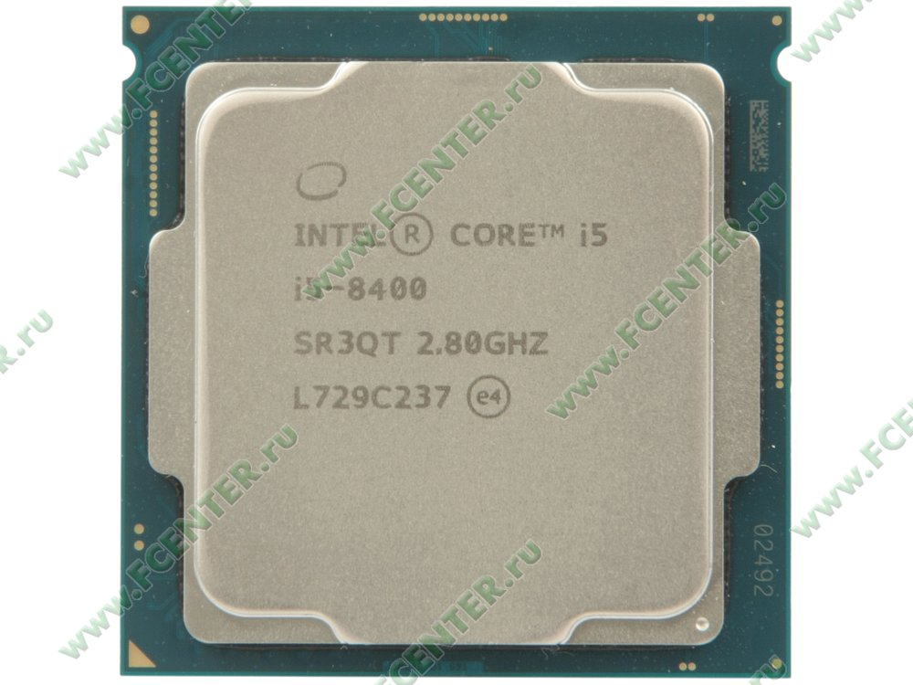 "Процессор Intel ""Core i5-8400"" Socket1151. Вид сверху."