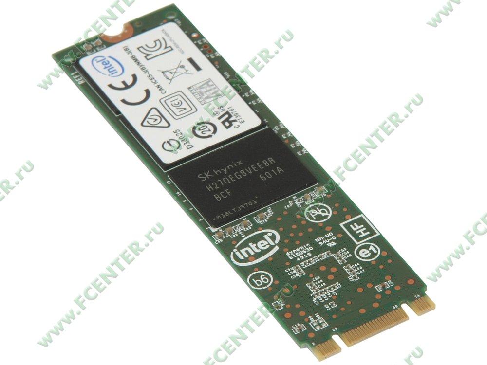 """SSD диск 120ГБ M.2 Intel """"535"""" SSDSCKJW120H601 (SATA III). Вид спереди."""