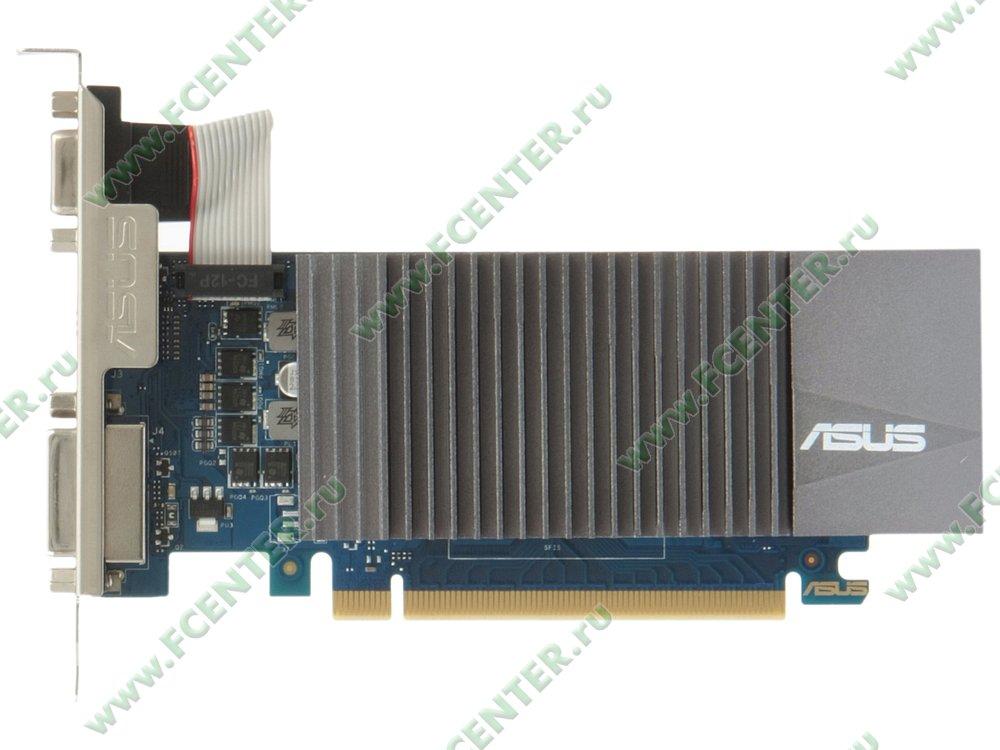 """Видеокарта ASUS """"GeForce GT 710 2ГБ"""" GT710-SL-2GD5-BRK. Вид сверху."""
