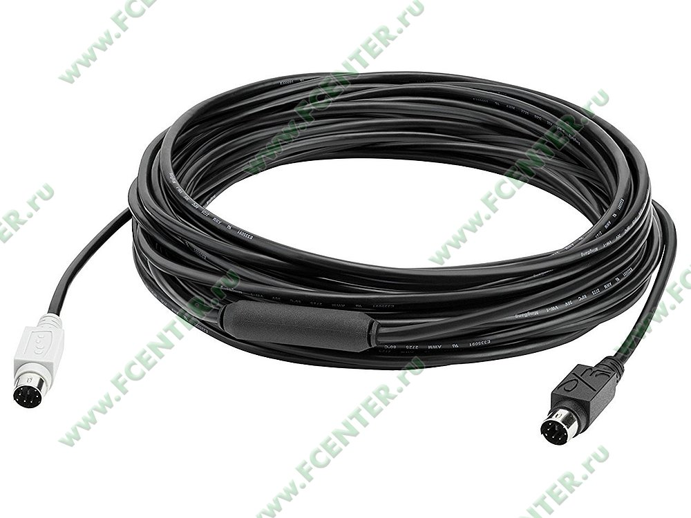 """null Logitech """"Group 10m Extended Cable"""" (10м). Фото производителя."""