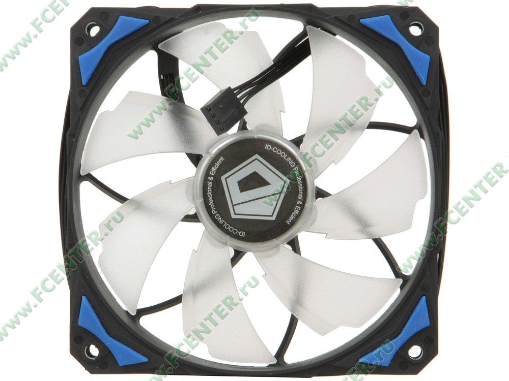 """Вентилятор ID-Cooling """"PL 12025-B"""" d120мм. Вид сверху."""