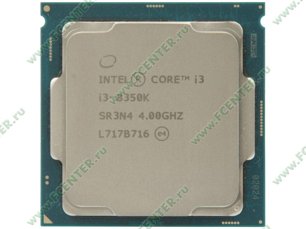 "Процессор Intel ""Core i3-8350K"" Socket1151. Вид сверху."