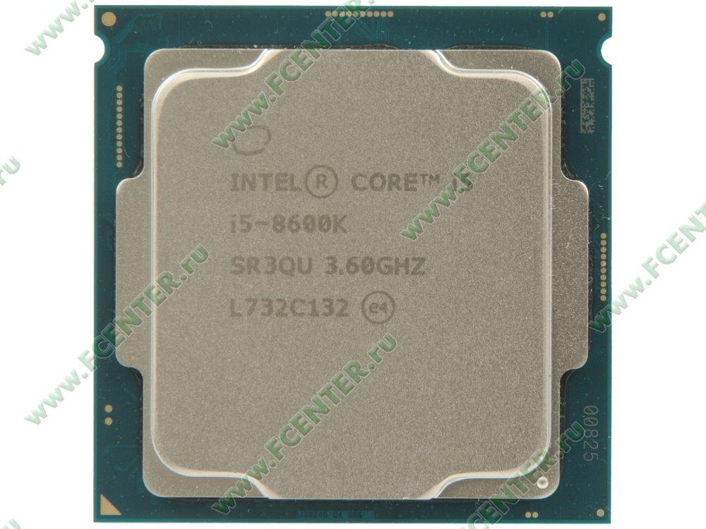 "Процессор Intel ""Core i5-8600K"" Socket1151. Вид сверху."