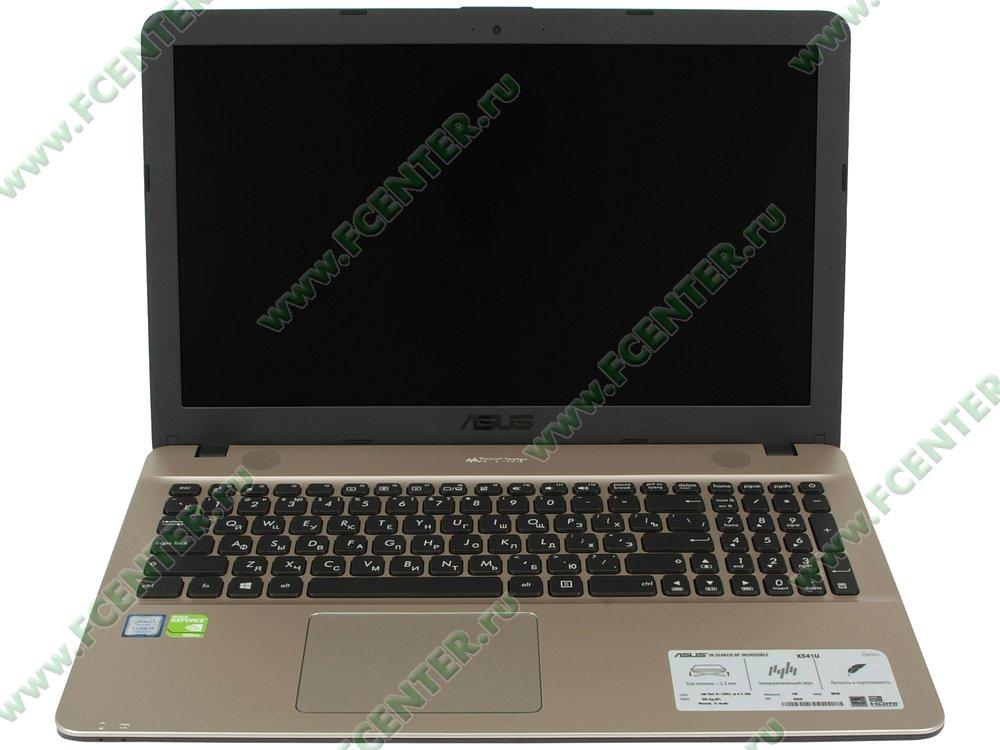 """Ноутбук ASUS """"X541UV-DM1401T"""". Вид cпереди 1."""