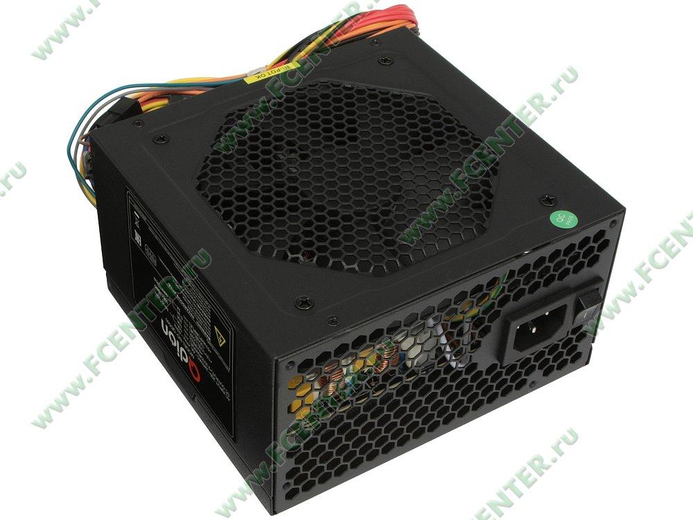 """Блок питания 500Вт FSP """"Q-DION QD500"""" ATX12V V2.3. Вид спереди."""
