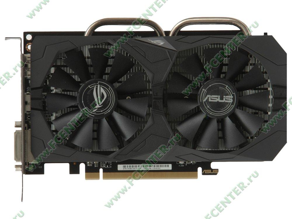 "Видеокарта ASUS ""Radeon RX 560 4ГБ"" ROG-STRIX-RX560-O4G-EVO-GAMING. Вид сверху."
