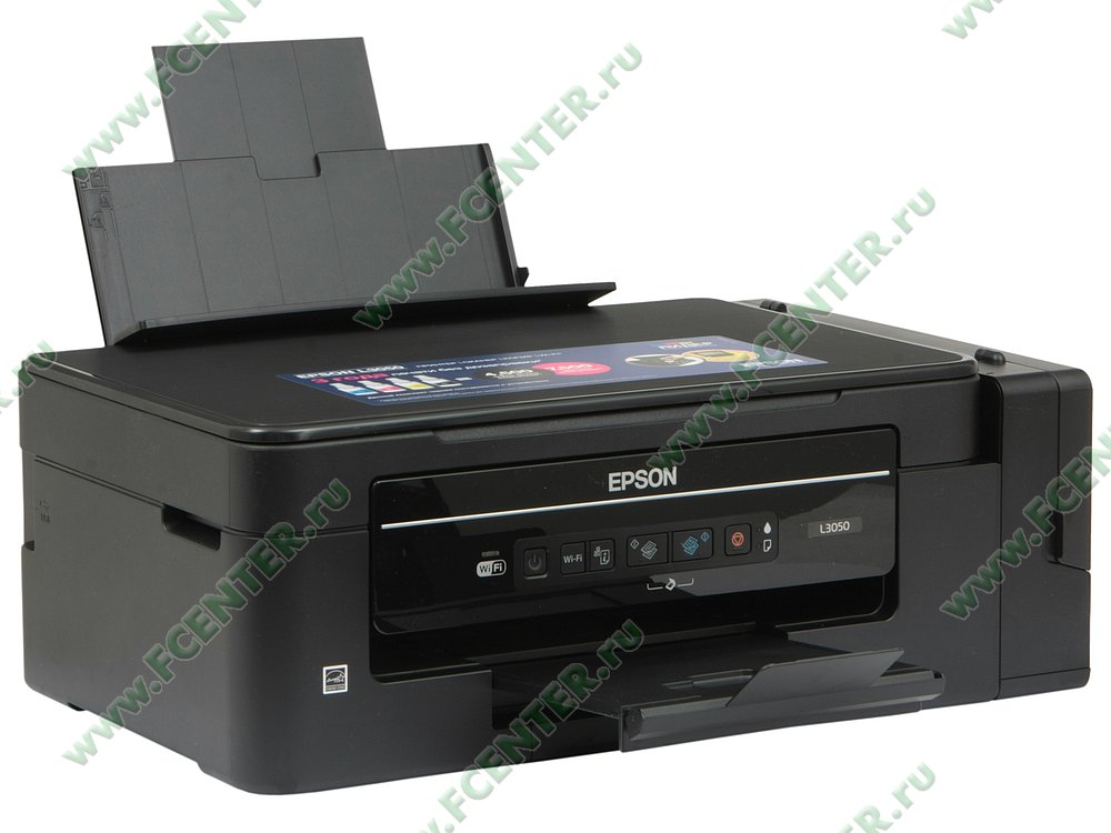 "Многофункциональное устройство Epson ""L3050"" (USB2.0, WiFi). Вид спереди 1."