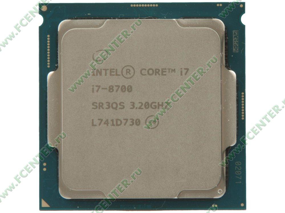 """Процессор Intel """"Core i7-8700"""" Socket1151. Вид сверху."""