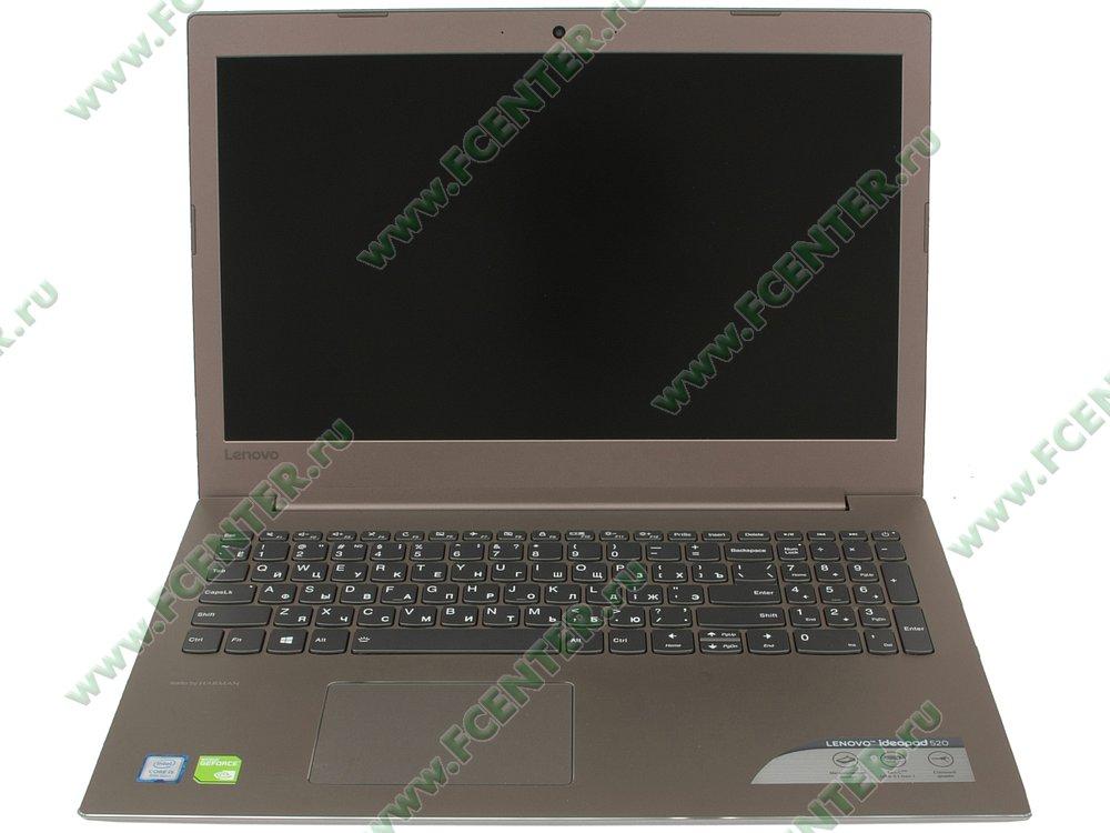"""Ноутбук Lenovo """"IdeaPad 520-15IKB"""". Вид cпереди 1."""