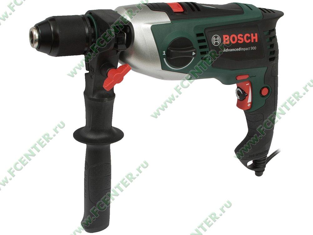 "Дрель Bosch ""AdvancedImpact 900"", ударная. Вид спереди."