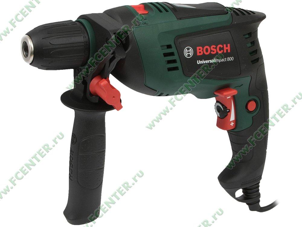 """Дрель Bosch """"UniversalImpact 800"""", ударная. Вид спереди."""