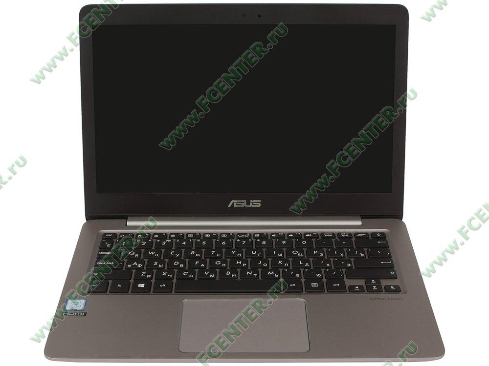 """Ноутбук ASUS """"Zenbook UX310UA-FC468T"""". Вид cпереди 1."""