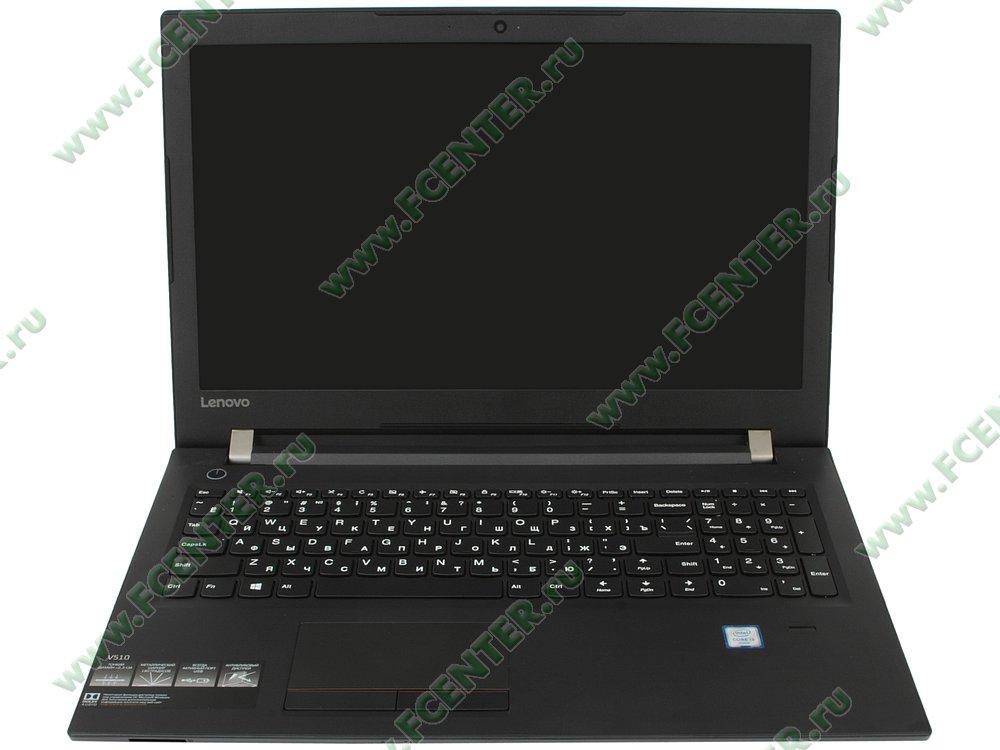 """Ноутбук Lenovo """"V510-15IKB"""". Вид cпереди 1."""