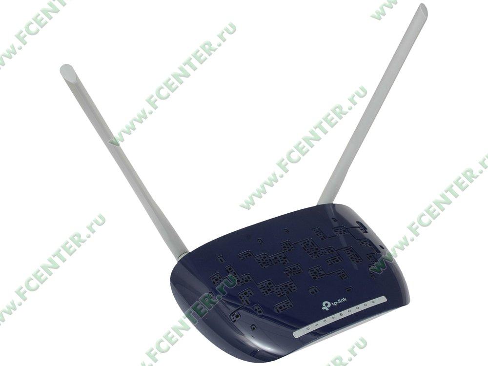 """Модем DSL TP-Link """"TD-W8960N"""" ADSL2+ (LAN, WiFi). Вид спереди."""