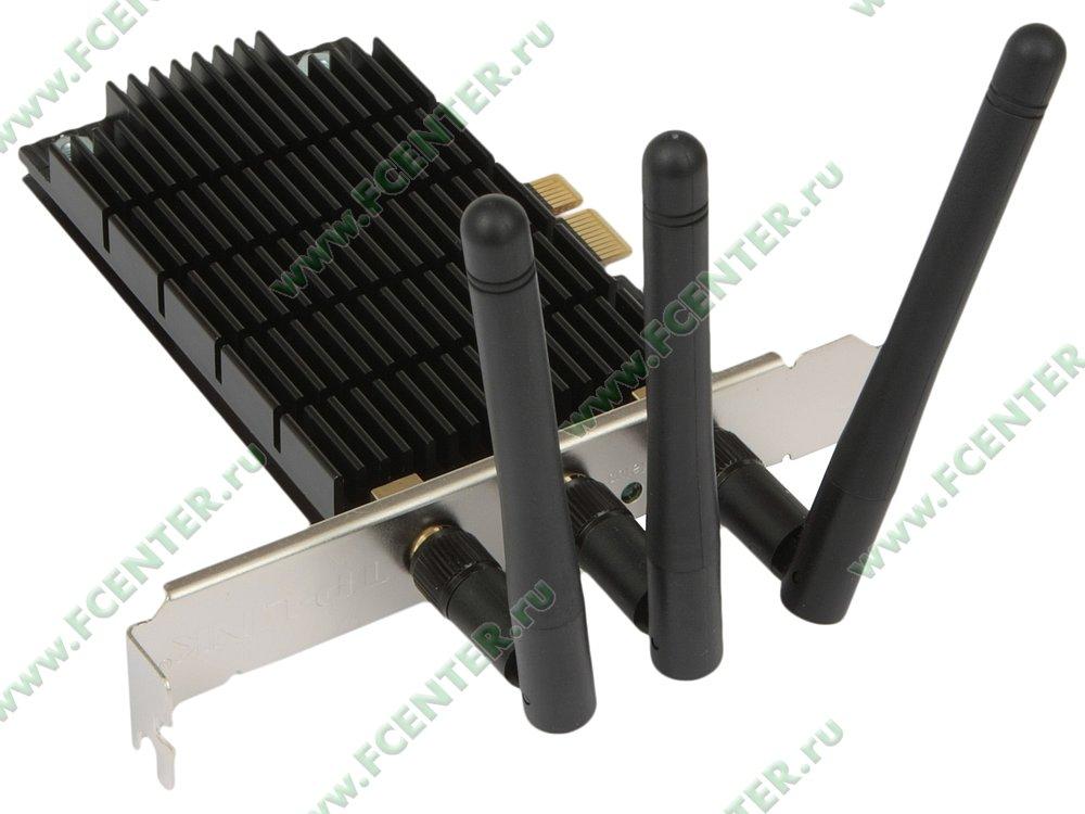 """Сетевая карта Wi-Fi TP-Link """"Archer T9E"""" (PCI-E x1). Вид спереди."""