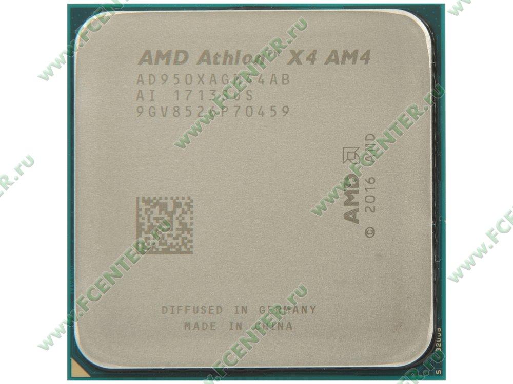 "Процессор AMD ""Athlon X4 950"" SocketAM4. Вид сверху."