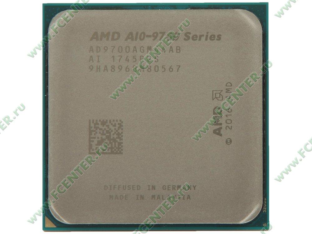 """Процессор AMD """"A10-9700"""" SocketAM4. Вид сверху."""
