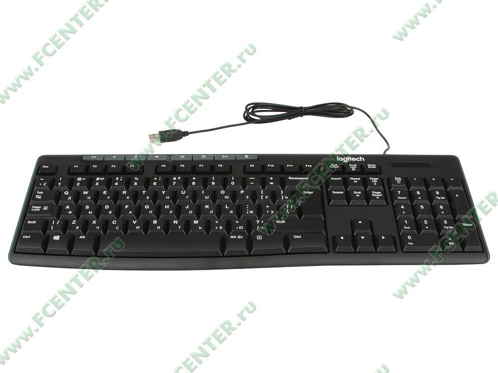 """Клавиатура Logitech """"K200 Media"""" (USB). Вид спереди."""