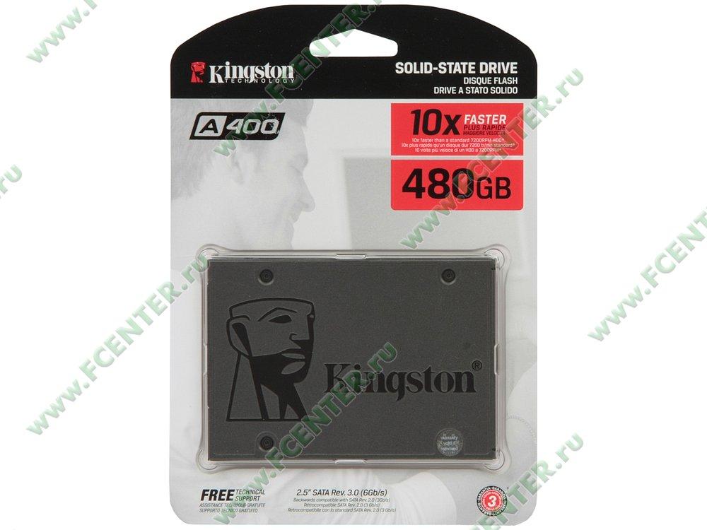 "SSD диск 480ГБ 2.5"" Kingston ""A400"" SA400S37/480G (SATA III). Коробка."