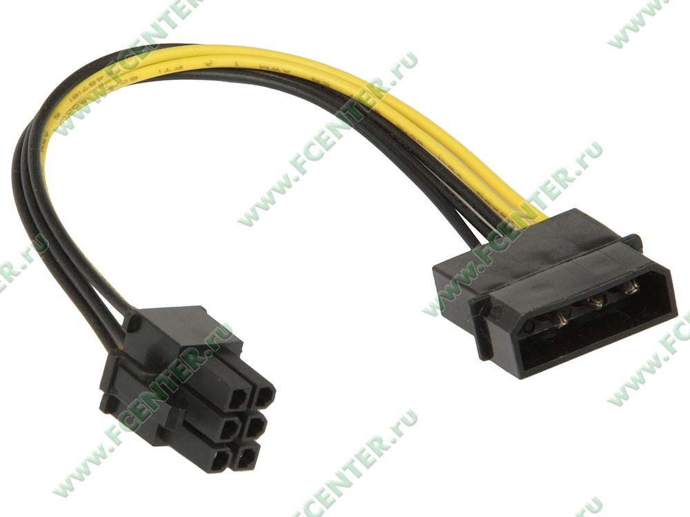 """Кабель-переходник PATA HDD->6-pin 12В ORIENT """"C511"""". Вид спереди."""